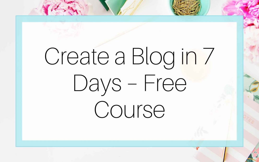 Creative portfolio and blog creation in days free course