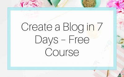 Create a Blog in 7 Days – Free Course