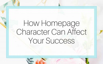 How Homepage Character Can Affect Your Success