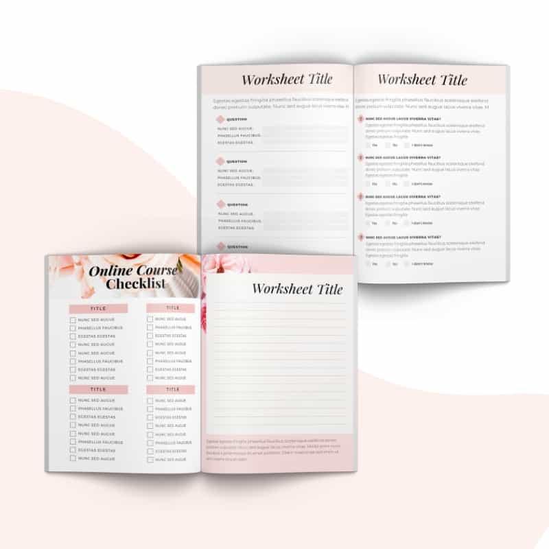Boss Lady Workbook Canva Template - The Blog Creative